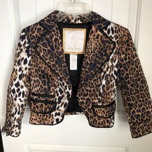 Baby Phat Cheetah Peacoat Blazer Jacket Medium